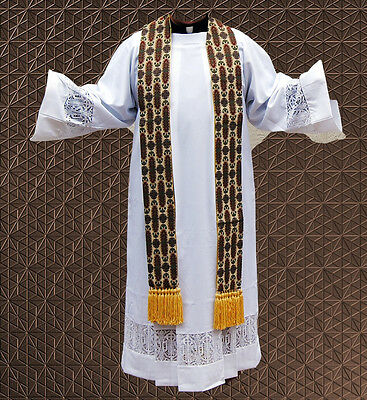 Clergy Tapestry Stole Rainbow Stained Glass Vestment