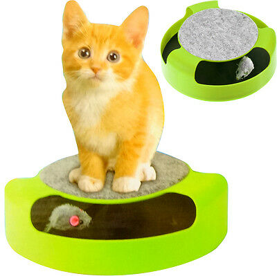 Cat Kitten Catch Mouse Plush Moving Toy Scratching Play Chase Interactive Motion