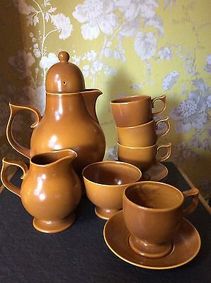 Vintage Ceramic Carlton Ware Coffee Set Coffee Pot Cups & Saucers 1960's