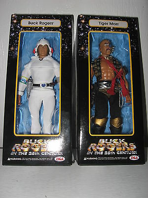 ZIGA TOYS BUCK ROGERS IN THE 25TH CENTURY & TIGER MAN TV LOT ACTION FIGURES US
