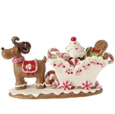 Gingerbread Sleigh by Raz Imports