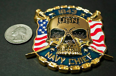 US NAVY CPO Large CHALLENGE COIN Numbered Limited Edition