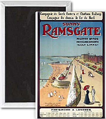 Sunny Ramsgate (old rail ad.) fridge magnet   (se)