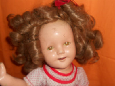 VINTAGE SHIRLEY TEMPLE DOLL IDEAL 1930 JOINTED SHIRLEY TEMPLE ORIGINAL CLOTHES