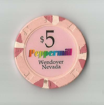 Peppermill Wendover   $5  House  Casino Chip