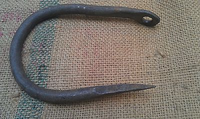 Antique Wrought Iron Hand Forged Huge Hook
