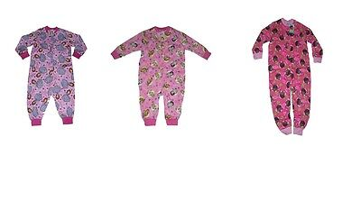 GIRLS All INN ONE PYJAMAS DISNEY PRINCESS SOFIA OR DISNEY PRINCESS 1- 5 YEARS