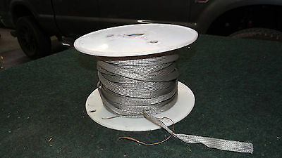 """5/8"""" Steel Braided Hose Cable Fuel Line Sleeve Sleeving 20ft, 20 foot section"""