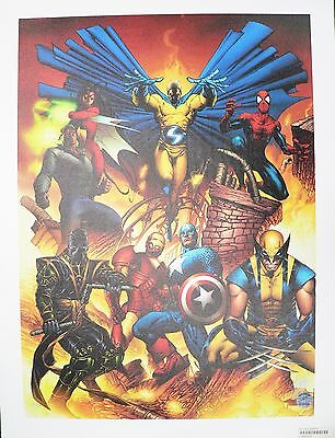 New Avengers #1 Marvel Giclee Canvas by Joe Quesada Signed by Stan Lee AP 1/20