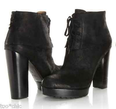 921ed055fef NEW MODERN VINTAGE Black Wedge DISTRESSED LEATHER ZIP PLATFORM BOOTS!8  Nordstrom