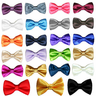 New Satin Bow Tie for Baby Toddler Kid Teen Boy Formal Tuxedo Suit 23 Color Pick