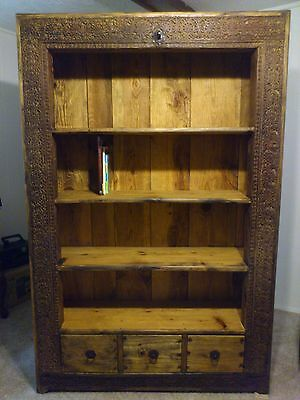 Antique Display Cabinet Made w/ Real 1900's Wooden Door Frame from Afghanistan