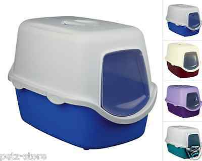 Trixie Hooded / Dome  Cat Litter Tray Vico With Flap 40 × 40 × 56 cm assorted