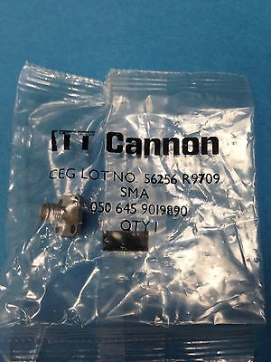 Lot of 5  **  ITT Cannon SMA 050 645 9019890 Connector