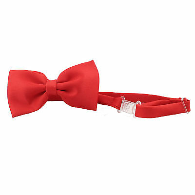 Satin Red Bow Tie for Baby Toddler Kid Teen Boy Formal Party Wedding Tuxedo Suit