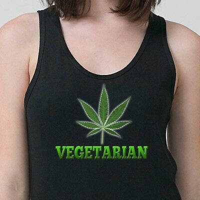 VEGETARIAN Marijuana Leaf 420 Pot T-shirt Kush Stoner Weed Adult Tank Top