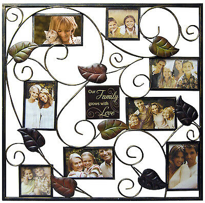 Family Tree Wall Collage Frame 4x6 Frames 8 Picture