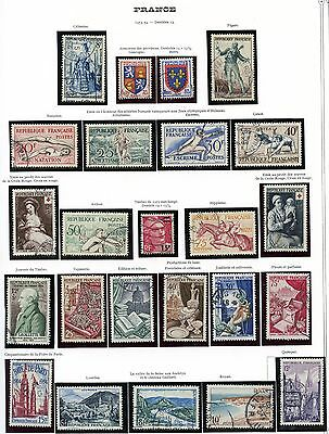 Stamp / Timbre De France Oblitere Lot Annee 1953/ 1954 / Sport / Divers