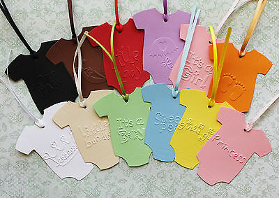 Swing Tags BABY EMBOSSED ONESIES Christenings, Baby Shower, Gift Cards