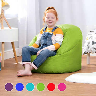 Childrens Bean Bag Cup Chair Kids Seat Teen Indoor Outdoor Beanbag LARGE / SMALL