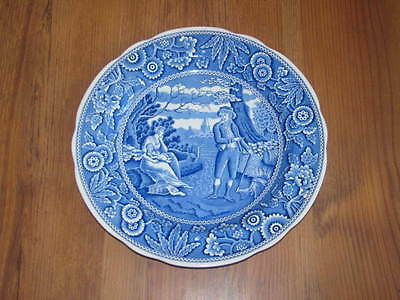 """Spode Blue Room Collection """"Woodman"""" 10 1/2"""" Plate England Pristine"""