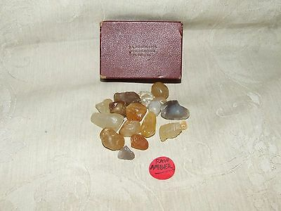 Vintage RAW AMBER 60.3gr 18 Loose Stones J L Fincher & Son Jewelers Ft Valley GA