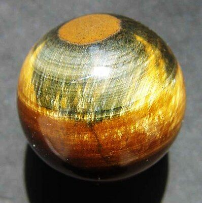 30mm 1.35OZ Natural Gold&Blue Tigers Eye Crystal Sphere Ball