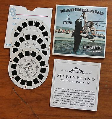 MARINELAND OF THE PACIFIC  VIEW MASTER Set 3 REELS ~ BOOK ~  ENVELOPE  ~ A 188