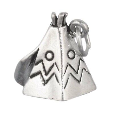 Teepee Tipi Tepee Native American Indian Hut Tent 3D .925 Sterling Silver Charm