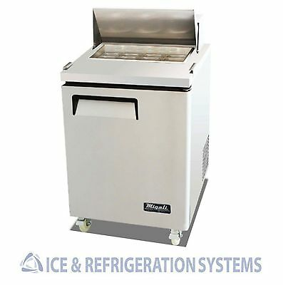 "Migali Commercial 27"" Mega Top Salad & Sandwich  Prep Table Cooler C-SP27-12BT"