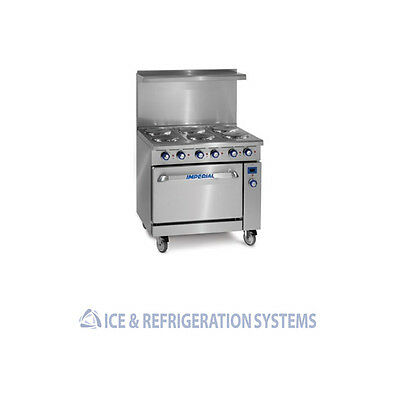 "Imperial 36"" Commercial Electric 6 Burner Range W/ Oven Ir-6-E"
