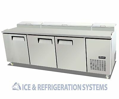 Migali Commercial Triple Door Pizza Prep Refrigerator Cooler Table C-PP93