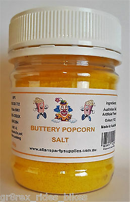 200g Butter Popcorn Salt, Cinema Quality Popcorn Salt, We Sell Popcorn Supplies