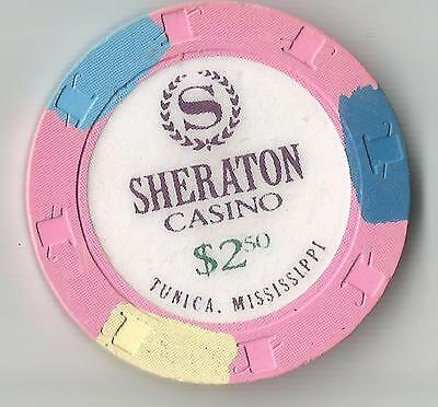 Sheraton Tunica Ms   $2.50  Casino Chip