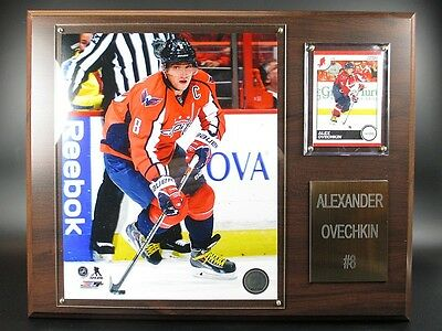 Alex Ovechkin Washington Capitals Holz Wandbild 38 cm,Plaque NHL Eishockey .
