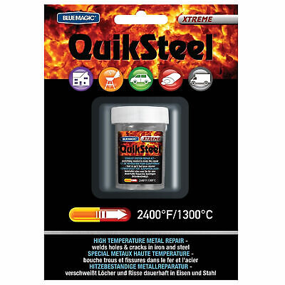 Quiksteel (Formally Thermo Steel) High Temp Metal Crack/Hole Repair Putty 85.2g