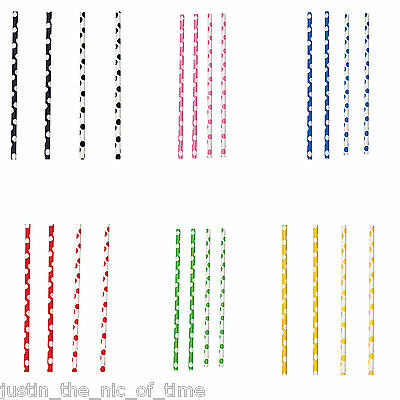 Polka Dots Spots Spotty Birthday Wedding Summer Party Paper Straws x 10