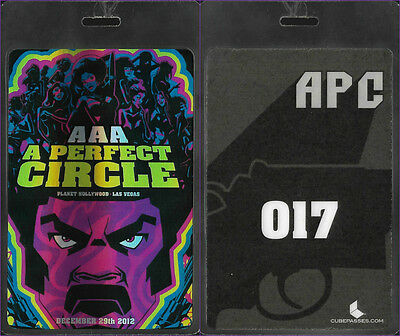 "A Perfect Circle ""All Access"" Backstage Pass Laminate (2012 NV) Tool Puscifer"