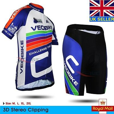 Bike Bicycle Team Clothing Summer Breathable Short Sleeve Jersey and Shorts Set