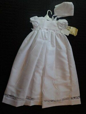 NWT Baby Girl Lauren Madison Christening Baptism Full Length Gown Size 6 - 9 Mo