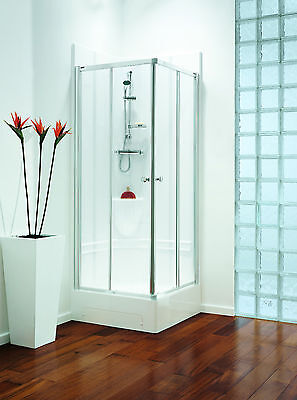 Showering Pod inclusive of pod, shower door and themostatic mixer shower