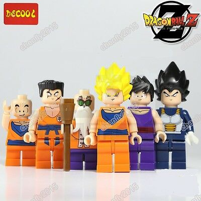6 kinds Dragon Ball Z  Minifigures building toy in plastice bags