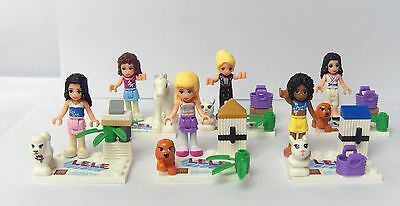 6 sets Friends Girl (j) series Minifigures building toys all new in plastic bags