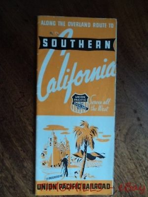 1939 Overland Route to Southern California Union Pacific Travel Brochure Vintage