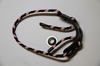 Paradox Adjustable Archery Bow Sling BLACK/ACID ROSE PINK