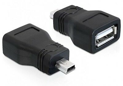 delock usb 2.0 marken verbinder adapter gender changer a-buchse an mini-stecker