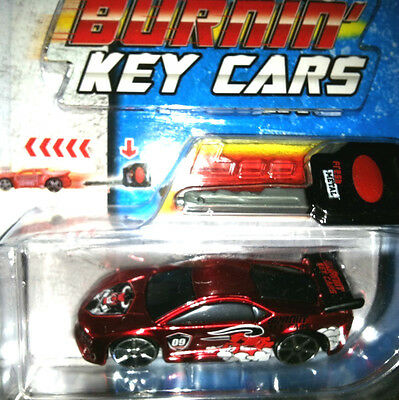 Maisto Burnin Burning Key Car Red Sports Angry BULL HTF Die Cast Classic Reborn!