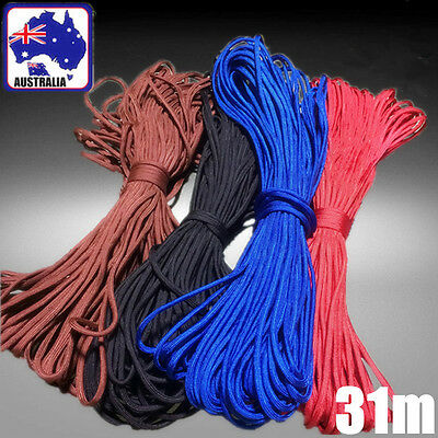 100ft 31m Paracord Parachute Cord Guy Rope Lanyard 7 Core Strand Nylon OPROP31
