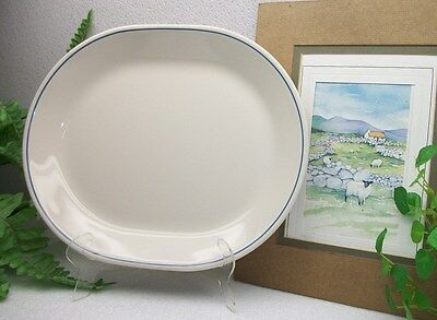 """Corelle Corning Ware  COUNTRY VIOLETS  12"""" Oval Serving Platter Plate  EXCELLENT"""