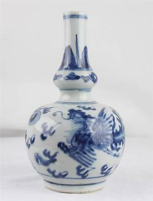 A Nice 18C. Chinese Blue and White Porcelain Double-Gourd Vase